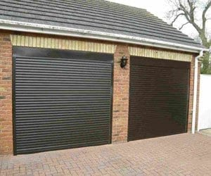 Rollar Black Steel Garage Door